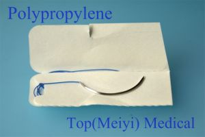 Surgical Suture with Needle- Polypropylene Monofilament Suture pictures & photos