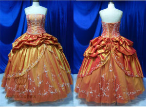 High Quality Embroidery Taffeta Prom Dress pictures & photos