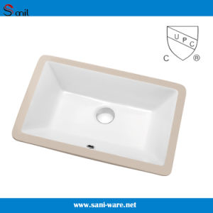 Installation Type Ceramic Sink Wash Basin with Cupc Certification (SN016) pictures & photos