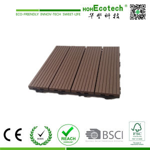 Best Sell! 300X300mm 400X400mm WPC Wood Plastic Composite Decking/Flooring Decking Tiles WPC Tiles pictures & photos