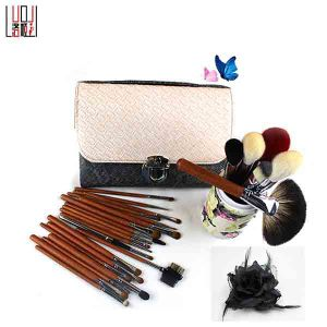26PCS Professional Cosmetic Tool Original Wood Handle Natural Hair Makeup Brush
