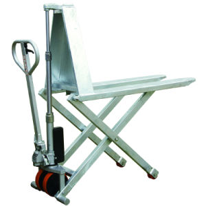 Stainless Steel Hydraulic High Lift Scissor Truck pictures & photos