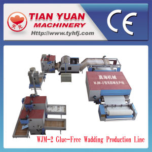 Nonwoven Glue Free Wadding Production Line (WJM-2) pictures & photos