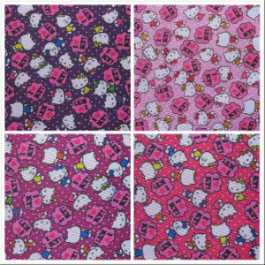 600d Oxford Hello Kitty Printing Polyester Fabric with PVC pictures & photos