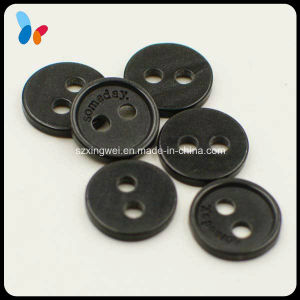 10mm Custom Laser Logo Black Two Holes Resin Shirt Button pictures & photos