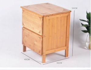 Bamboo Wooden Cabinet Lockers with 3 Drawers pictures & photos