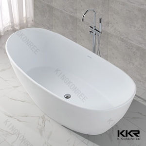 High Qualtiy Solid Surface Stone Resin Bathroom Soaking Bath pictures & photos