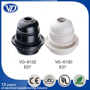 E27 Plastic Slef-Lock Lampholder Vd-613 Half Threading Body pictures & photos