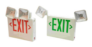 Battery Backup Remote Dual Head UL Listed LED Exit Sign and Emergency Light pictures & photos
