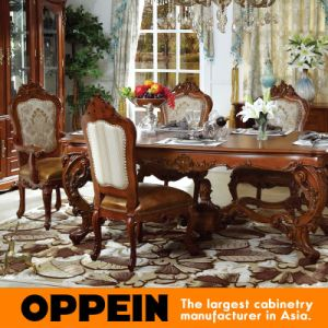 European Solid Wood Furniture Dining Room Table with Chair pictures & photos