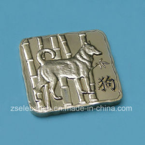 3D Shiny Nickel Plated Promotional Dog Coin (Ele-C212) pictures & photos