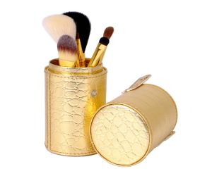 Golden Makeup Brush Cosmetic Brush with Jar pictures & photos