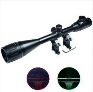6-24X50 Hunting Rifle Scope Red Green Rangefinder Illuminated Optical Gun Scope pictures & photos