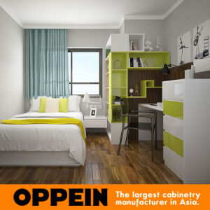 Modern Fresh Green High Gloss Lacquer Home Bedroom Set Furniture pictures & photos