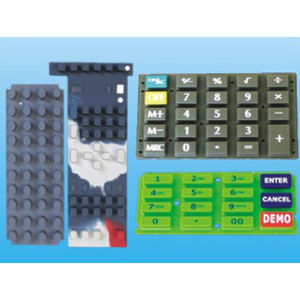 PU Coated Silk Screen Elastic Rubber Silicone Keypad for Audio Equipment pictures & photos