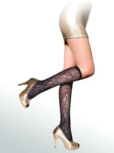 Floral Pattern Fishnet Knee High Stockings 8431-L pictures & photos