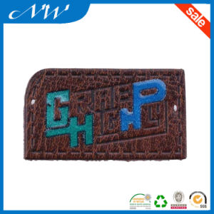 Fashion Brown Real Leather Patches for Jeans pictures & photos