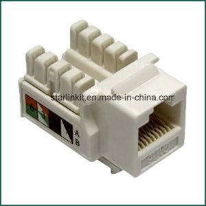 Cat5e CAT6 UTP Keystone Jack 90 Degree for Information Outlet pictures & photos
