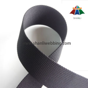 1 1/4 Inch Black Small Wave Nylon Webbing Inventory pictures & photos