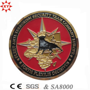 Free Sampl Zinc Alloy 3D Metal Coin with Badge Police Logo pictures & photos