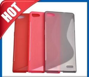 S Line TPU Shape for Huawei Ascend P7 Case pictures & photos