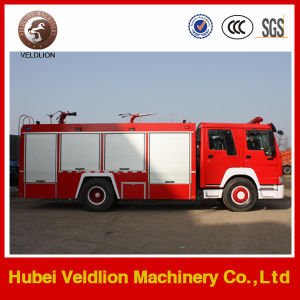 6 Wheels 8 Ton 2000 Gallons HOWO Fire Fighting Truck pictures & photos