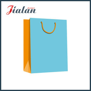 Solid Color Gift Paper Bag with Inside Printing pictures & photos