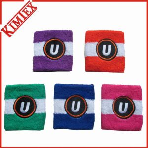 Cotton Terry Promotion Headband Sweatband with Embroidery Logo pictures & photos