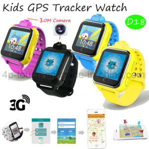 2017 Newest Smart Kids GPS Tracker Watch with Real-Map D18 pictures & photos