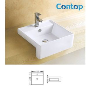 Ceramic Sanitary Ware Semi-Counter Above Basin Wash Basin pictures & photos