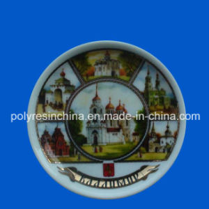 Plate Ceramic Fridge Magnet for Russia Souvenir pictures & photos