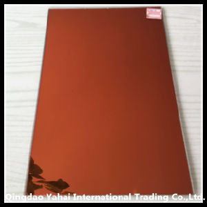 4mm Claret Colored Decorative Glass Mirror pictures & photos