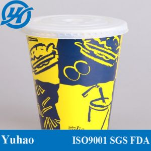Disposable Cold Soft Drink Paper Cup with Lid pictures & photos