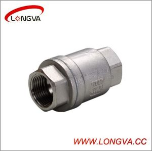 Food Grade Ss304 2PCS Threaded Check Valve pictures & photos