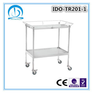 Ido-Tr207 Stainless Steel Hospital Trolley pictures & photos