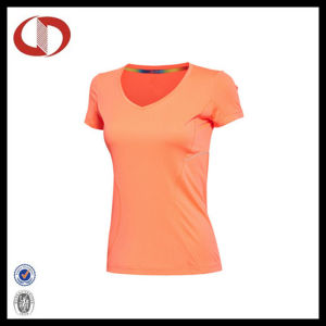Women V-Neck Gym Sportswear Garment Running Jersey pictures & photos