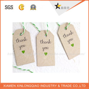 Custom Design Fashion Style Hot Selling Kraft Garment Hang Tag pictures & photos