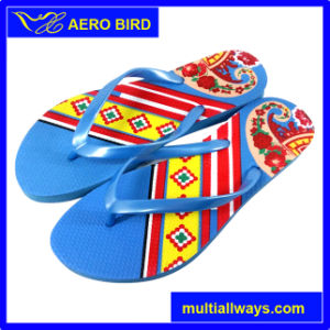 Fashion PE Sole Flip Flop for Ladies (MT14011) pictures & photos