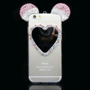 Gradient Heart Shape Mirror Cell/Mobile Phone Cover/Case for iPhone 5/6/6plus