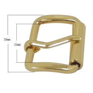 Custom Metal Handbag Gold Roller Buckle pictures & photos