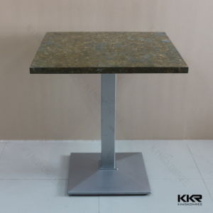 Modern Design Acrylic Solid Surface Marble Top Dining Table pictures & photos