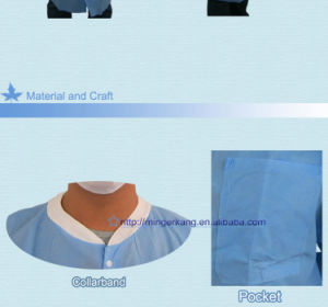 Blue or White Polyethylene PP Non Woven Visitor Coat pictures & photos