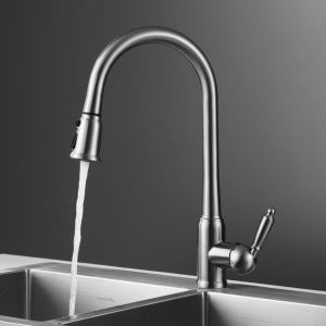 Long Neck Single Lever Pull out Kitchen Mixer pictures & photos