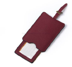 PU Leather Luggage Tag Customized Luggage Business Office Gift Accessories pictures & photos