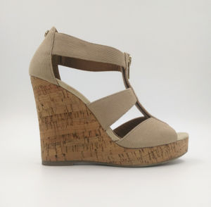 Canvas Thong Wedge Sandal pictures & photos