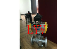 Pneumatic Flanged Cast Steel 2 PCS Ball Valve