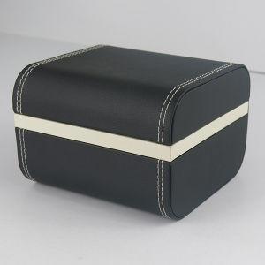 Custom Matt Black Leather Bracelet Watch Gift Packaging Plastic Box pictures & photos