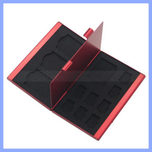 Logo Printing 12 In1 Large Capacity for 4 SD Micro SD SDHC Sdxc MMC 8 TF SIM Card Aluminum Storage Box pictures & photos