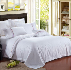 100% Cotton White Hotel Bedding Sets pictures & photos