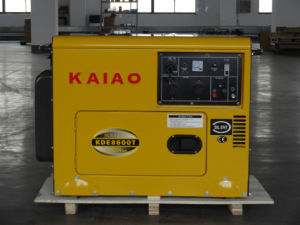 Single Phase Silent Generator 5.5kw CE ISO BV SGS Approved pictures & photos